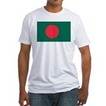 Bangladesh Flag Picture Fitted T-Shirt