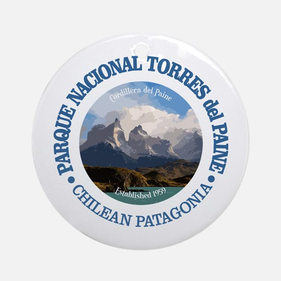 Torres del Paine NP Round Ornament