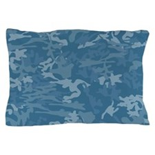 Blue Camouflage Pillow Case