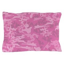 Pink Camouflage Pillow Case