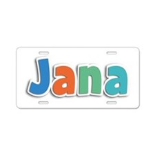 Jana Spring11B Aluminum License Plate