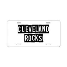 Cleveland Rocks Aluminum License Plate