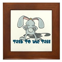 Talk to the Tail Bunny Rabbit Framed Tile