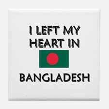 I Left My Heart In Bangladesh Tile Coaster