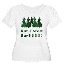 Run Forest Run Women's Plus Size Scoop Neck Tee