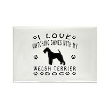 Welsh Terrier design Rectangle Magnet