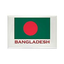Bangladesh Flag Gear Rectangle Magnet