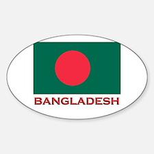 Bangladesh Flag Gear Oval Decal