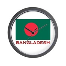 Bangladesh Flag Gear Wall Clock