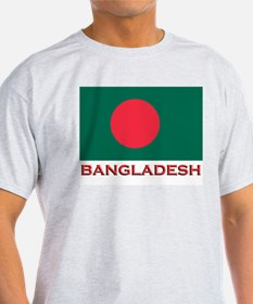 Bangladesh Flag Gear Ash Grey T-Shirt