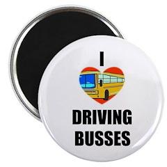 I LOVE DRIVING BUSSES Magnet