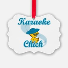 Karaoke Chick #3 Ornament