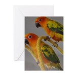 My parrot can talk Greeting Cards (Pk of 20)