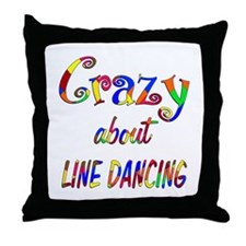 Crazy About Line Dancing Throw Pillow