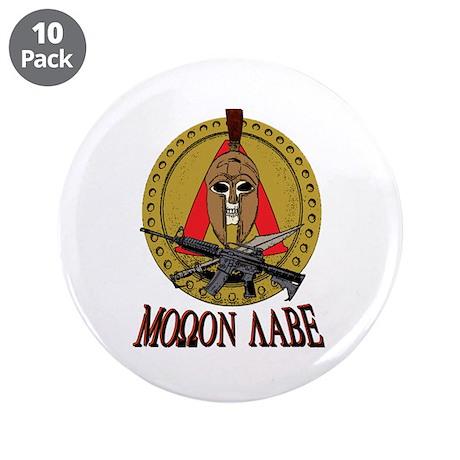 """Molon Labe MkII 3.5"""" Button (10 pack)"""
