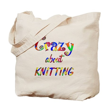 Crazy About Knitting Tote Bag