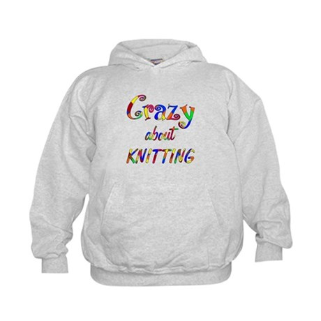 Crazy About Knitting Kids Hoodie