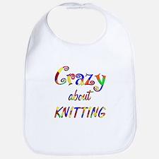 Crazy About Knitting Bib