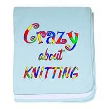 Crazy About Knitting baby blanket