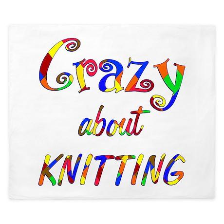 Crazy About Knitting King Duvet