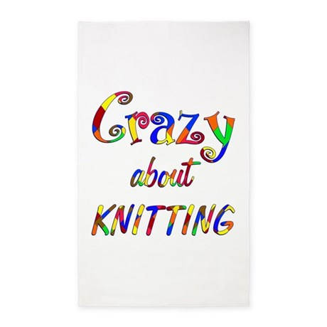 Crazy About Knitting 3'x5' Area Rug