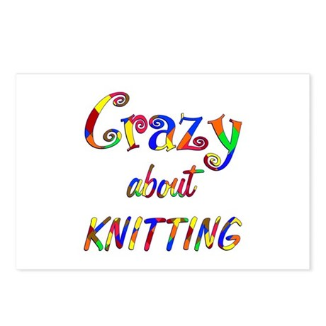 Crazy About Knitting Postcards (Package of 8)