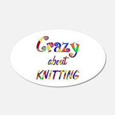 Crazy About Knitting Wall Decal