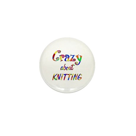Crazy About Knitting Mini Button (100 pack)