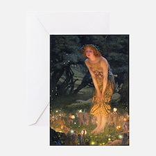 Midsummers Eve Fairy Dance Greeting Card