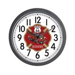 Route 66 Fire Dept Wall Clock