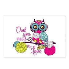 Owl you need is love Postcards (Package of 8)