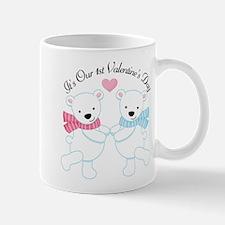 1st Valentine's Day Twin Bear Mug
