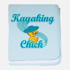 Kayaking Chick #3 baby blanket