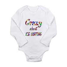 Crazy About Ice Skating Long Sleeve Infant Bodysui