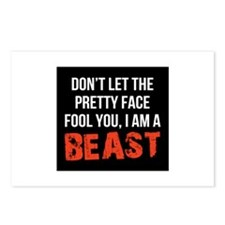 Pretty faced beast Postcards (Package of 8)