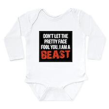 Pretty faced beast Long Sleeve Infant Bodysuit