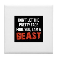 Pretty faced beast Tile Coaster