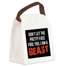 Pretty faced beast Canvas Lunch Bag