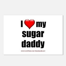 """Love My Sugar Daddy"" Postcards (Package of 8)"