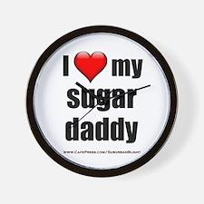 """Love My Sugar Daddy"" Wall Clock"