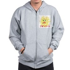 Funny Witch Zip Hoodie