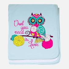 Owl you need is love baby blanket