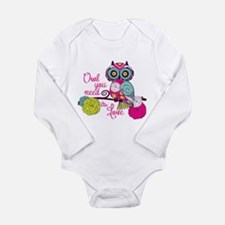 Owl you need is love Long Sleeve Infant Bodysuit