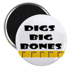 Ruler Digs Big Bones Magnet
