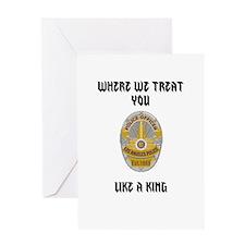 king Greeting Card
