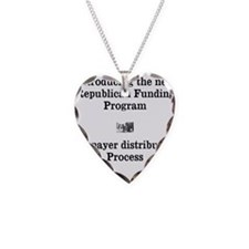Republican Funding Necklace Heart Charm