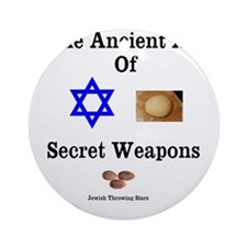 Jewish Martial Arts Ornament (Round)