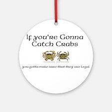 Crabbing Ornament (Round)