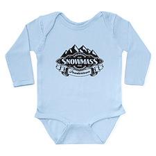 Snowmass Mountain Emblem Long Sleeve Infant Bodysu