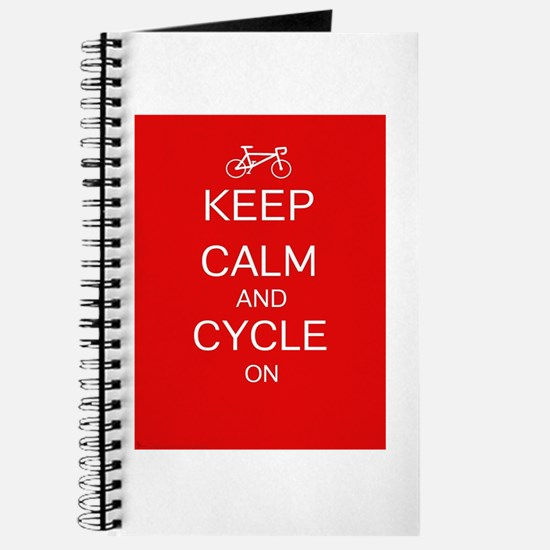 Keep Calm And Cycle On Journal